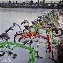 冰上雪地亲子双人独轮自行车户外大型滑雪场游乐设备碰碰球