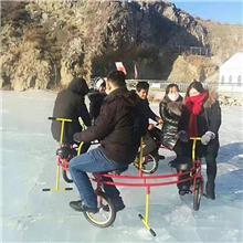 冰上雪地自行车大型户外滑雪场雪地转转碰碰球全地形履带越野坦克龙舟