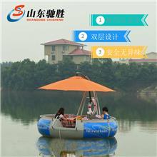 水上公园电动碰碰船儿童自行车脚踏船充气水上电瓶碰碰船水上游乐设备