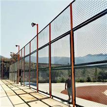 定做学校操场篮球场围网_绿色包塑铁丝网_运动场护栏