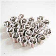 不锈钢钢丝螺套 专业定制 机械工业用紧固螺套304铜合金镀银 螺纹螺套