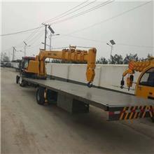牵引款8吨双桥平板起重机 拖拉机平板随车吊 运输平板吊车销售