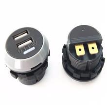 宇捷_汽車用品車載充電器雙USB接口5V2.4A