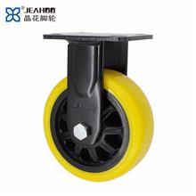 晶花脚轮制造 减震轮重型脚轮 重型pu减震脚轮 脚轮通用五金配件
