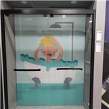 无锡不锈钢淋浴房定制 一字型推拉淋浴房 宾馆整体淋浴房 规格定做