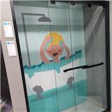 苏州一字型淋浴房 推拉门淋浴房 一体式沐浴房 定制批发