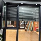 徐州阳台平开玻璃窗 190系列铝合金百叶窗 遮阳一体窗 现货直供