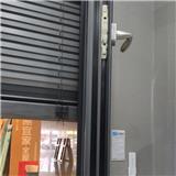 南京铝合金百叶帘遮阳一体窗 中空玻璃平开窗 铝型材门窗供应