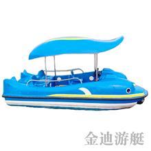 常州供應 5人電動船 水上觀光電瓶船 玻璃鋼游覽船