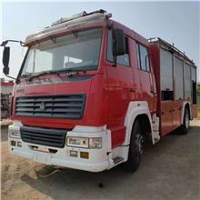 转让大型水罐消防车 二手消防车 部队退役重汽消防车