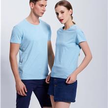 纯色圆领T恤_DIY印字班服_同学聚会活动服_免费印字广告服