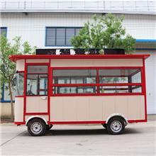 山东德州小吃车 电动四轮餐车适用范围广电动可爱早餐快餐车 地摊车三轮四轮