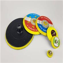 气动打磨机粘盘125自粘托盘带6孔125圆盘砂纸粘盘气动磨机研磨盘