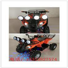 兒童電動四輪車沙灘摩托車雙驅動充帶遙控電瓶車沙灘玩具一件代發