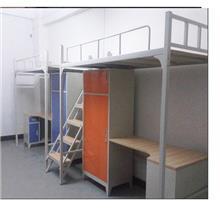 成都双层公寓床-成都公寓床连体结构-公寓家具-学生高低钢架床厂家