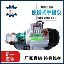 自吸齿轮泵 高粘度柴油食用油泵 便捷式手提泵 220V单项电动泵