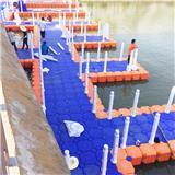 组合式浮筒码头 塑料浮筒水上平台 水面钓鱼平台