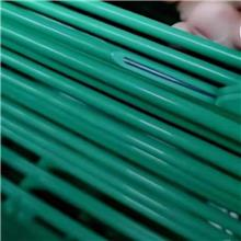 廠家供應 園林防護網 小區公園用桃型柱三角折彎護欄 庭院景觀護欄鐵絲網