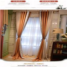星與辰_主題酒店餐廳爆款雙色拼接布藝窗簾