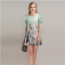 杭州品牌百格麗2020年春夏女裝折扣批發新款連衣裙直播貨源走份