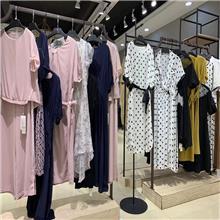 杭州知名品牌卓宛2020夏新款时尚独特连衣裙折扣批发直销一手货源折扣走份