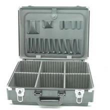 铝合金五金工具手提维修家用工具板展示箱仪器仪表箱带锁收纳箱