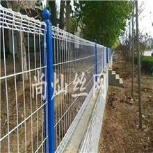 【护栏网】供应高速公路隔离防护双边丝护栏网 园林铁丝网栏护栏网支持定做
