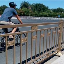 城市文化市政工艺护栏 马路中央文化隔离栅栏黄色交通防护栏