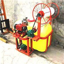 轴传动农用喷雾器 拖拉机后悬挂式打药机 8米宽幅麦田自动卷管打药机