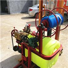 拖拉机带动麦田打药机 园林后悬挂喷雾器 果园自动卷管喷药机