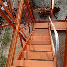 供应建筑安全梯笼 箱式安全爬梯 隧道基坑安全通道 笼式梯笼