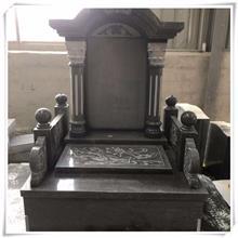 黑色墓碑石碑 农村土葬墓群 石雕墓群 现货供应