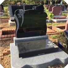 加工厂家 黑色墓碑 中国黑石碑公墓 组合式墓群
