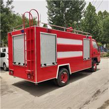 水罐消防车 水罐洒水消防车 时代卡三5立方消防车厂家报价