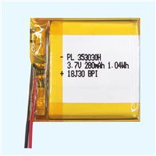 行车记录仪高倍率锂电池353030 3.7v 280mAh应用于计电子血压电池,灯饰电池