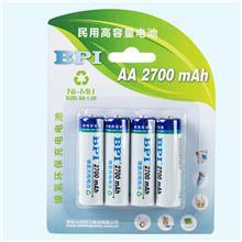 民用高容量镍氢电池AA5号2700mAh毫安,应用于KTV话筒麦克风,玩具及游戏机手柄电池