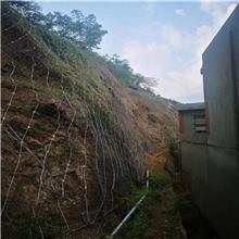 现货供应 柔性边坡安全防护边坡安全防护网 镀锌钢丝绳安装主动护栏网