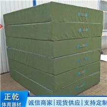 加厚帆布海绵军用绿色跳高垫 正乾体育体操垫 正乾体操垫生产厂家