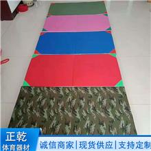迷彩部队专用垫 健美健身体操垫 跆拳道空翻垫子 帆布海绵垫子