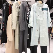女装批发便宜时尚货源 尾货服装批发 品牌女装厂家一手货源 欧·珂秋季风衣女装系列