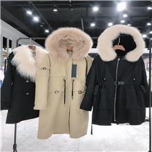 黛迪 2020冬季派克皮草大衣 民族风棉麻服装批发 棉麻女装批发 杭州棉麻女装批发市场