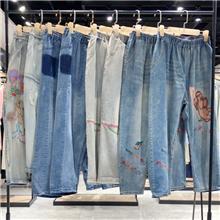 牛仔裤韩版 服装厂服装批发 便宜服装尾货批发 索依女裤 时尚牛仔裤