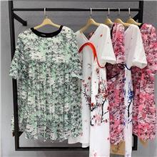 广州品牌女装批发 服装店进货渠道 品牌女装一手货源 青像真丝连衣裙批发