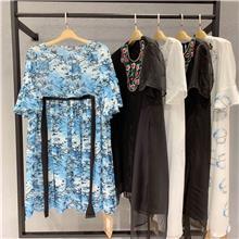 夏装新款女装批发 实体店女装进货 中档服装批发市场 青像品牌连衣裙特卖