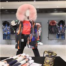 MKZ 冬季皮草派克服 女装批发 女装尾货批发 广州服装批发市场在便宜