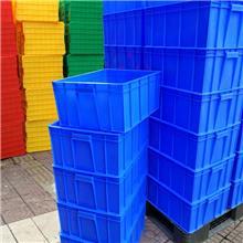 斜插式塑料物流箱连盖套叠医药生鲜食品冷链周转箱加厚超市运输箱