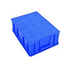 塑料周转箱加厚大号蓝色货框五金零件收纳盒中转筐胶框运输物流箱