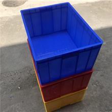厂家直销水果工厂电子物流塑胶筐加厚蓝白多色755塑料周转箱