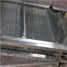 不锈钢网带 链板输送带 双挡板大节距金属网带