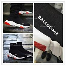 外贸原单Balenciaga巴黎世家黑红色休闲个性字母logo高帮袜子鞋